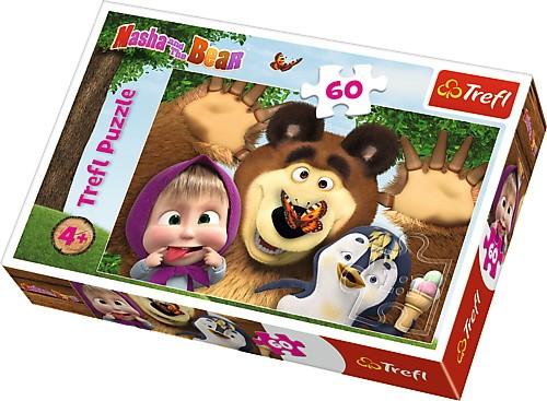 Puzzle Masza i Niedźwiedź 60el Wesoły Dzień | Trefl