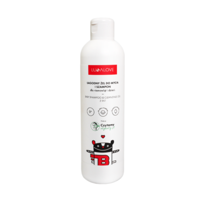 Łagodny żel do mycia i szampon dla niemowląt i dzieci - 250 ml   Lullalove