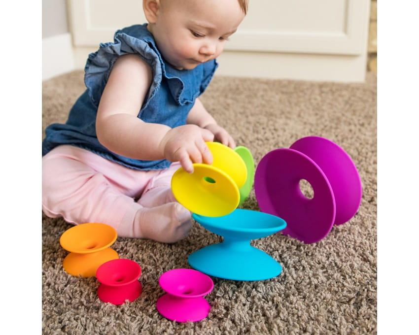 Wieża szpulek - Spoolz   Fat Brain Toys