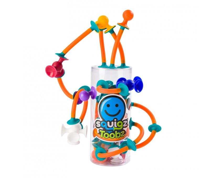 Przyssawki Toobz Squigz - 18 szt.   Fat Brain Toys