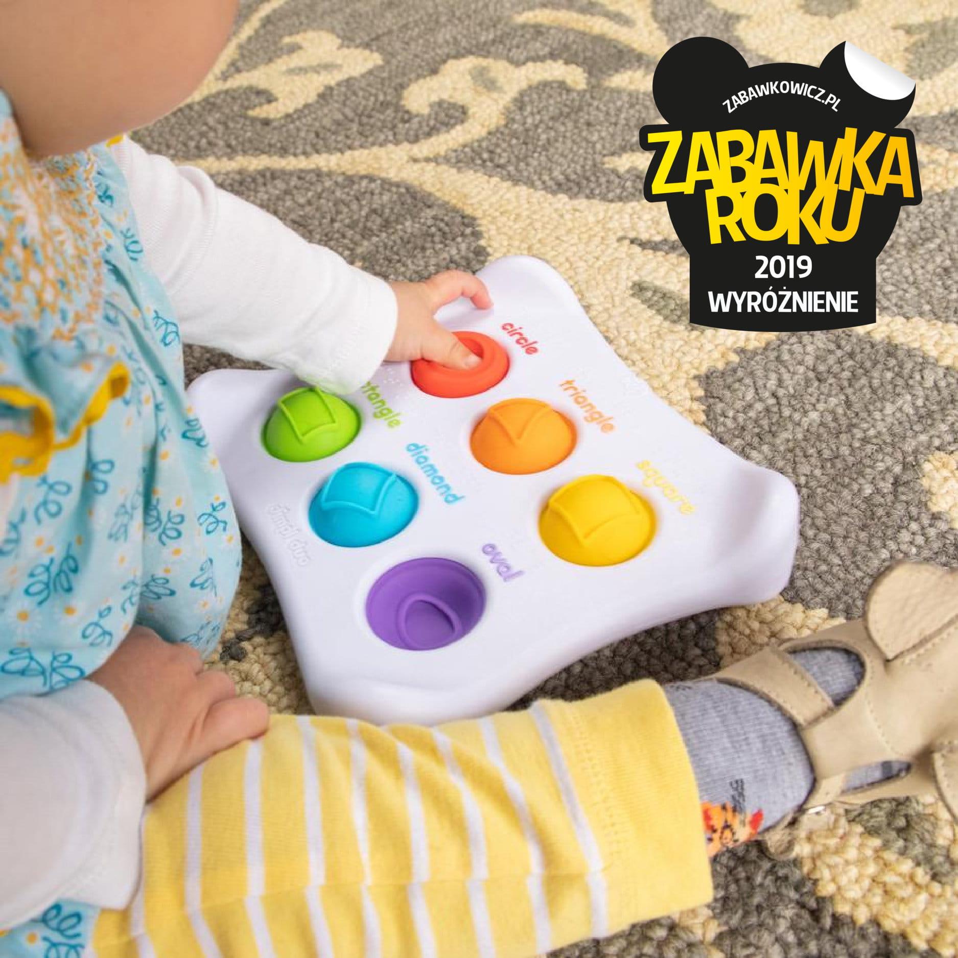 Bąbelki Dimpl-Duo Kształty i kolory - sensoryczna zabawka | Fat Brain Toys