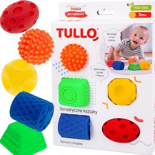 Piłki - kształty sensoryczne 5szt | Tullo