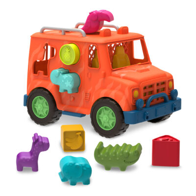Ciężarówka SAFARI – z klockami SORTERAMI | B.Toys