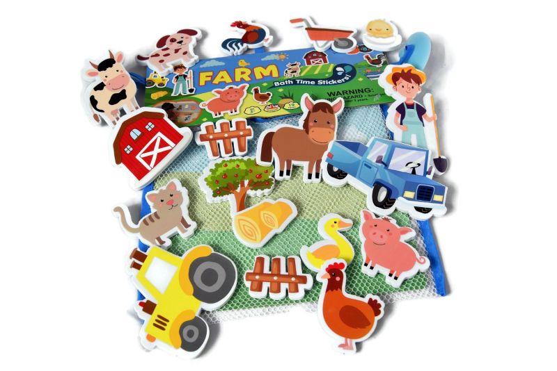 Piankowe naklejki do kąpieli Farma