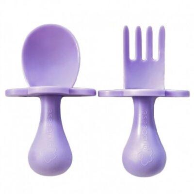 Pierwsze Sztućce - łyżeczka i wiedelczyk Lavender | Grabease