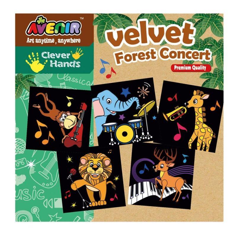 Kolorowanka velvet - Muzycy z dżungli