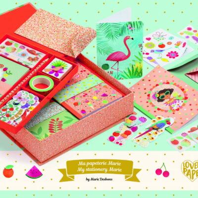 Kuferek z zestawem papierniczym Marie | Djeco