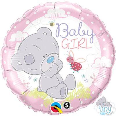 Balon foliowy Baby Girl Miś 46cm