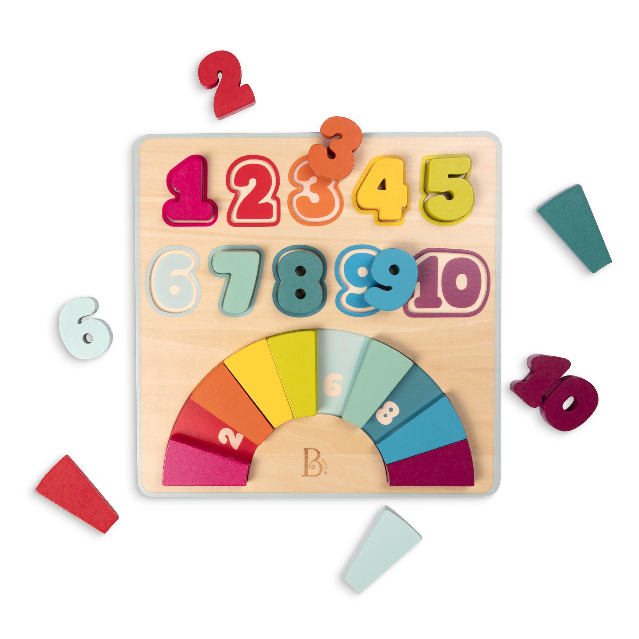 Drewniana układanka edukacyjne Tęczowe Cyferki | B.Toys