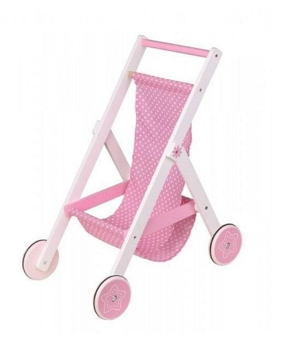 Drewniany wózek spacerowy dla lalek | Lelin