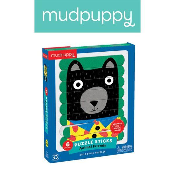 Puzzle Patyczki Zwierzęcy przyjaciele 24 elementy | Mudpuppy
