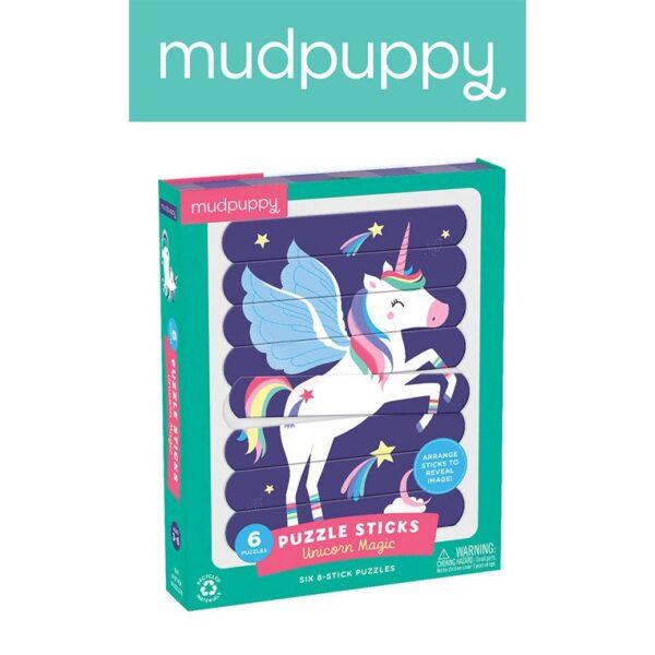 Puzzle Patyczki Magiczne jednorożce 24 elementy | Mudpuppy