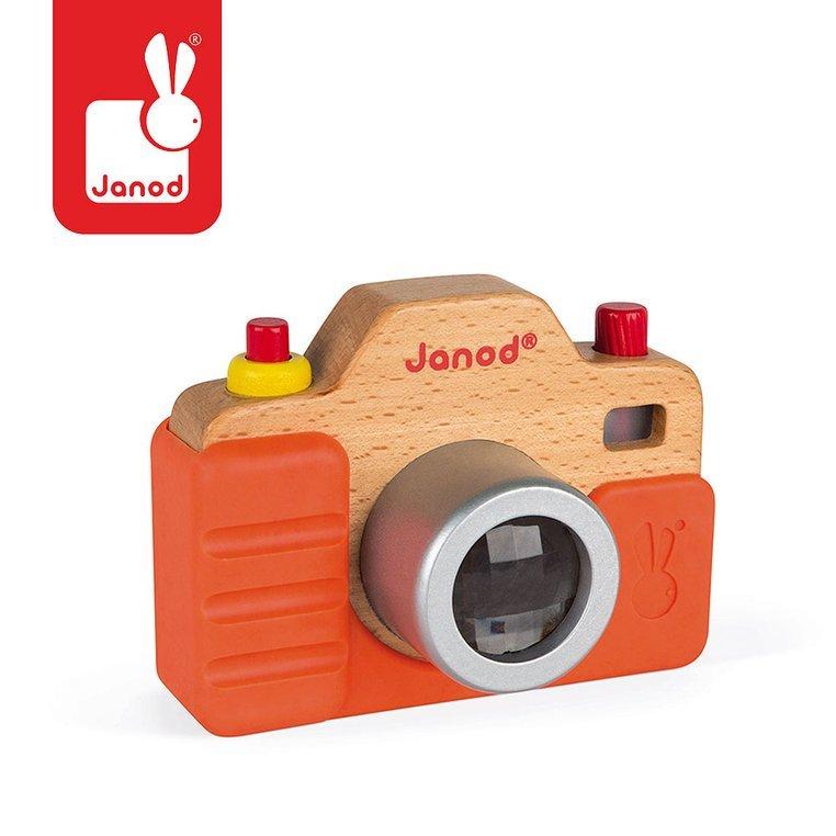 Drewniany aparat fotograficzny z dźwiękiem i lampą błyskową | Janod