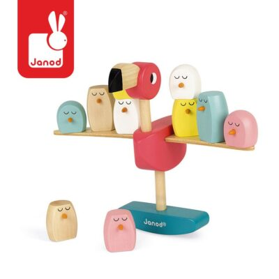 Gra balansowa drewniana Flamingi | Janod