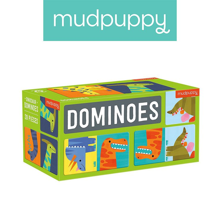 Gra Domino Dinozaury 28 elementów | Mudpuppy
