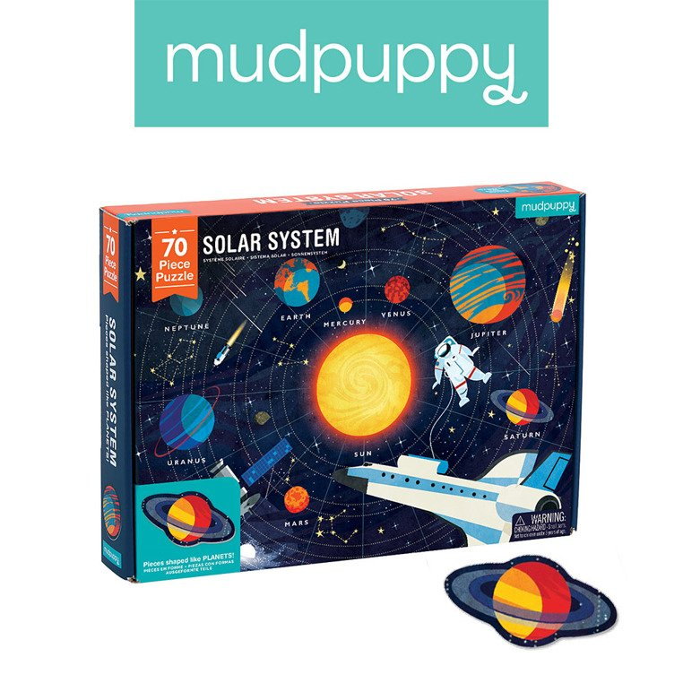 Puzzle Układ Słoneczny z elementami w kształcie planet | Mudpuppy