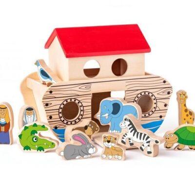 Drewniana arka Noego z figurkami | Woody