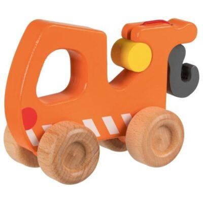 Drewniana ciężarówka z holownikiem | Goki