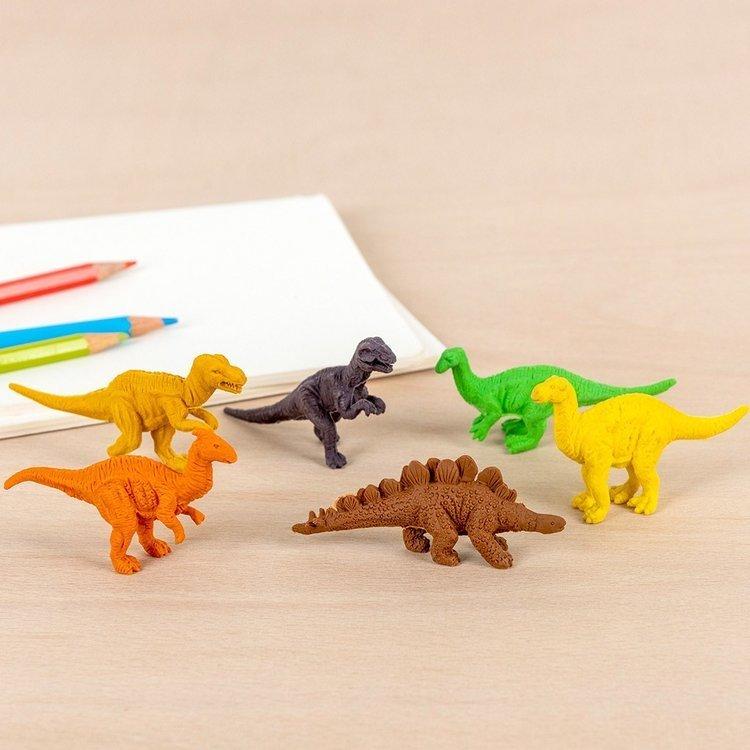 Gumki do mazania, Dinozaury II, 6 szt | Rex London