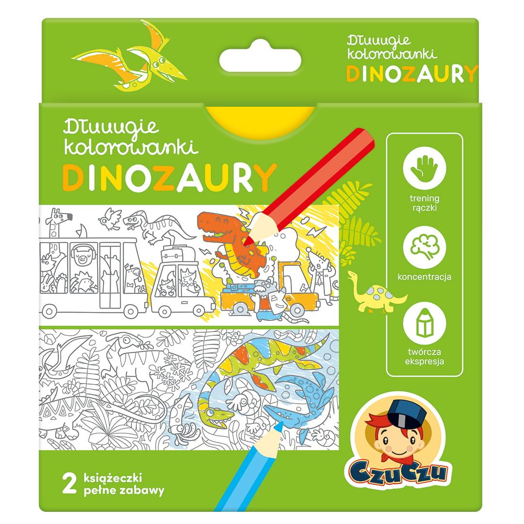 Długie kolorowanki - Dinozaury | Czuczu