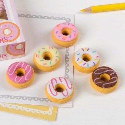 Gumki do zmazywania 6 szt Donut | Rex London