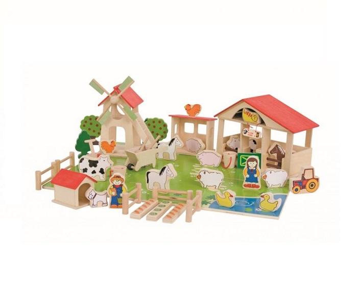 Drewniany zestaw do układania Farma | BigJigs