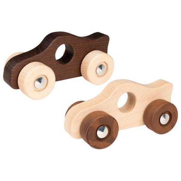 Drewniane autko do rączki | Goki