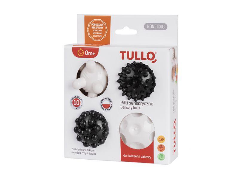 Piłeczki sensoryczne czarno-białe | Tullo