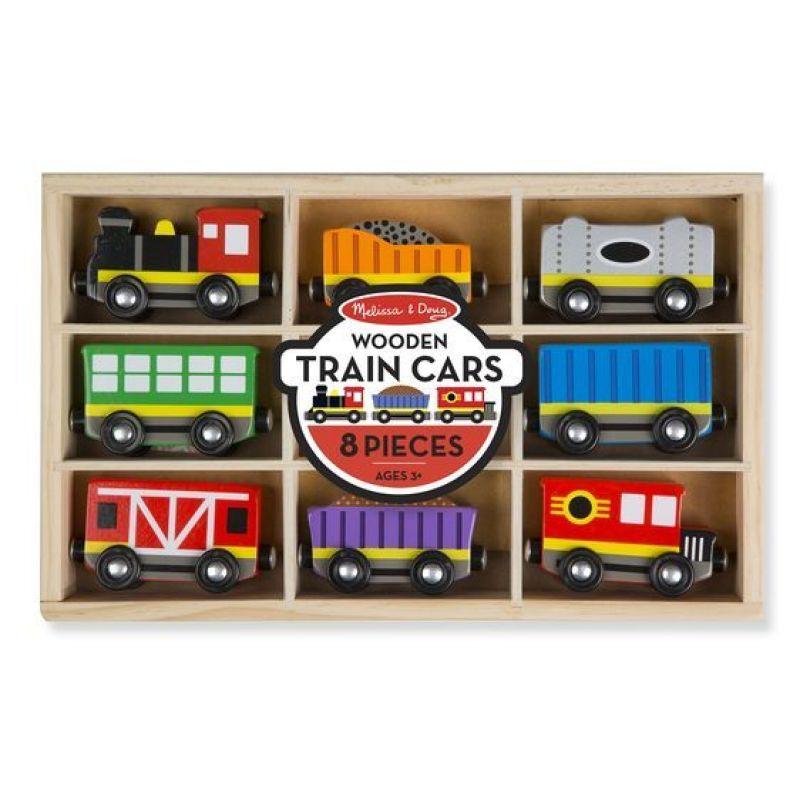 Drewniany pociąg z wagonikami w skrzynce   Melissa&Doug