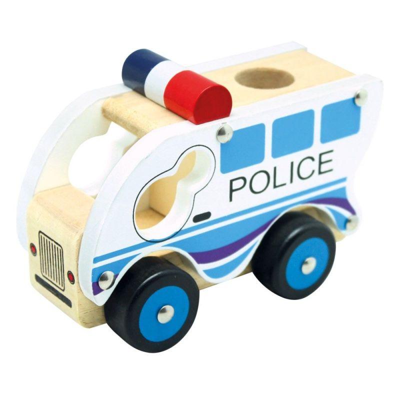 Autko drewniane - Policja | Bino