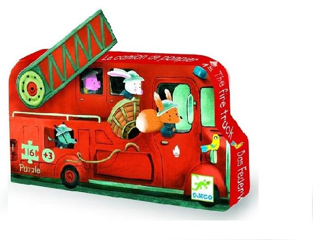 Puzzle Straż Pożarna 16el | Djeco