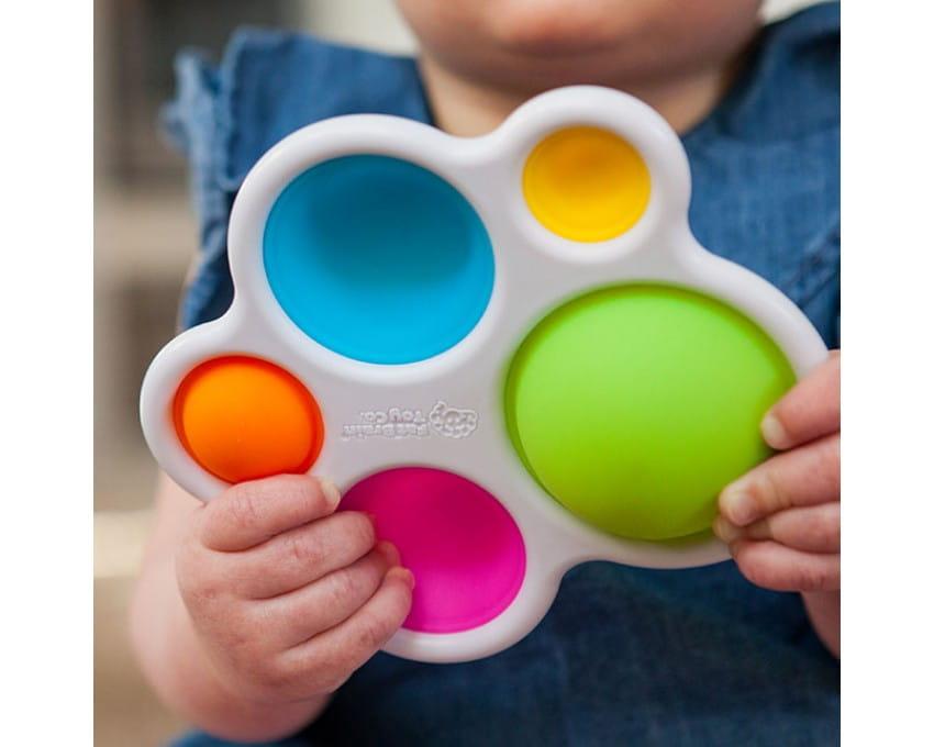 Bąbelki Dimpl - sensoryczna zabawka dla malucha | Fat Brain Toys