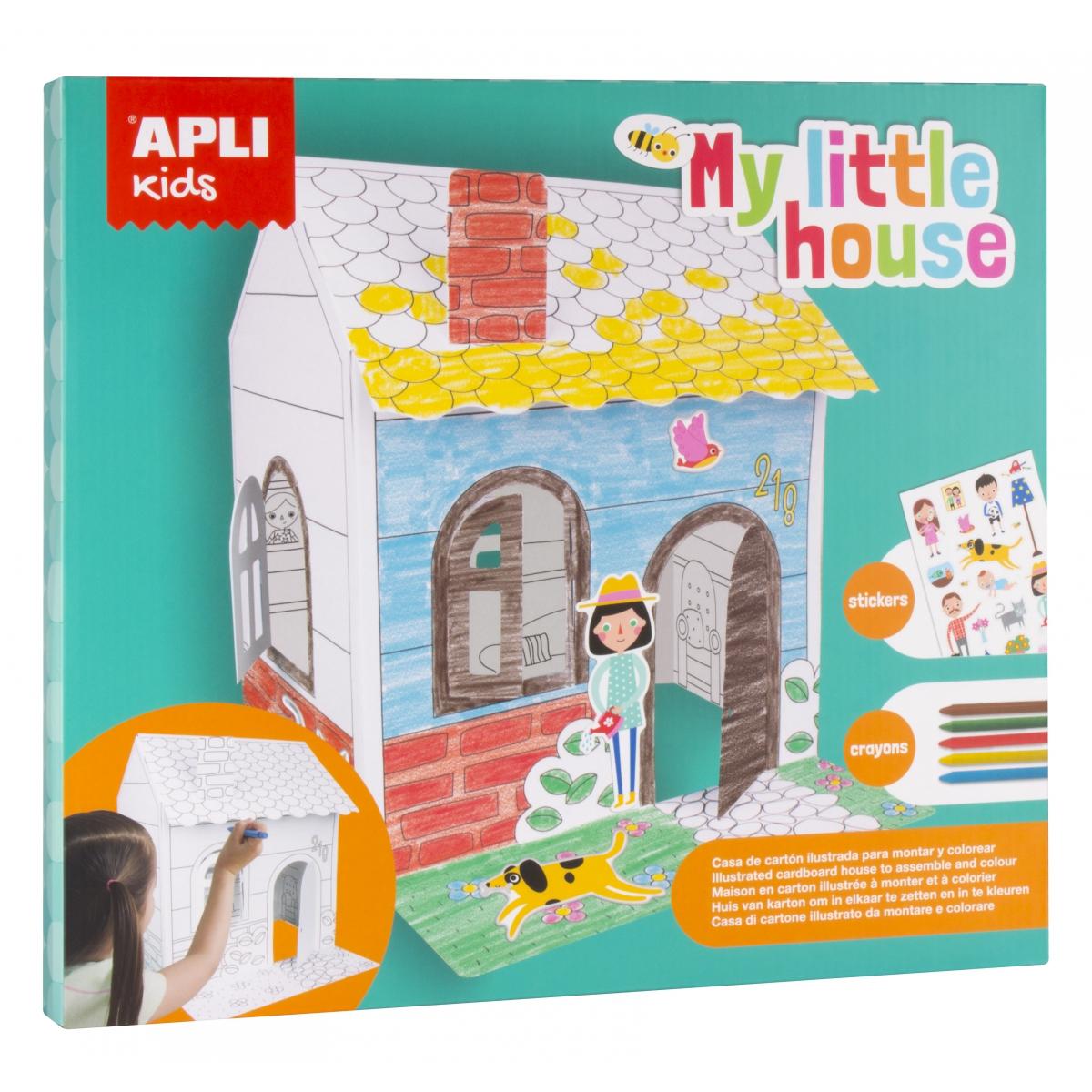 Kartonowy domek do złożenia i pokolorowania | Apli Kids