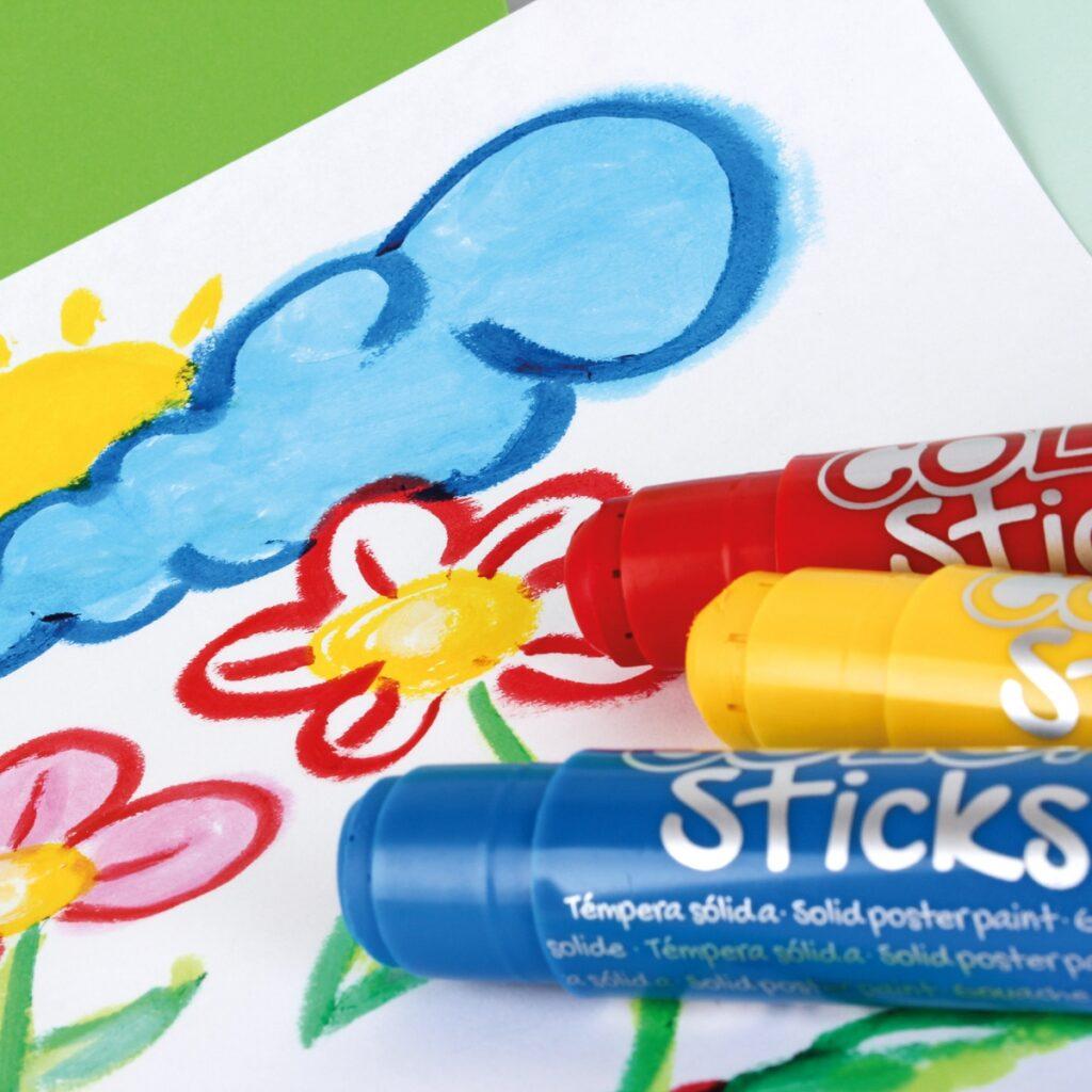 Farby w kredce 12 kolorów   Apli Kids