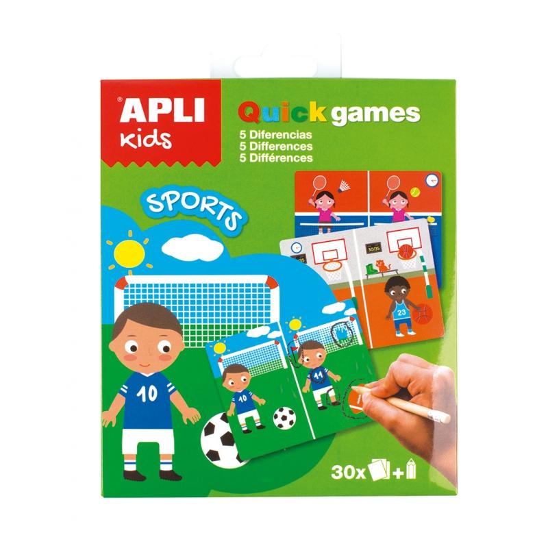 Gra podróżna - znajdż różnice Sport | Apli Kids