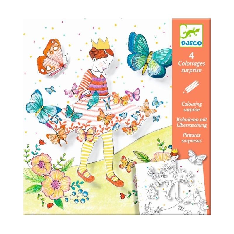 Kolorowanka z niespodzianką Pani Motylek   Djeco