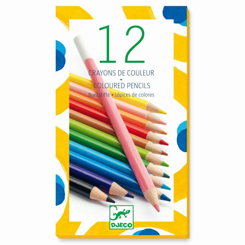 Kredki ołówkowe 12 kolorów   Djeco