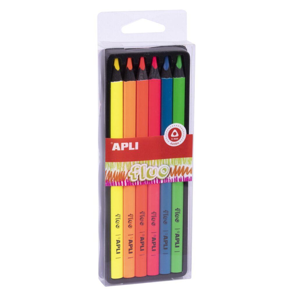 Kredki ołówkowe Jumbo Fluo   Apli Kids