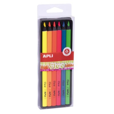 Kredki ołówkowe Jumbo Fluo | Apli Kids