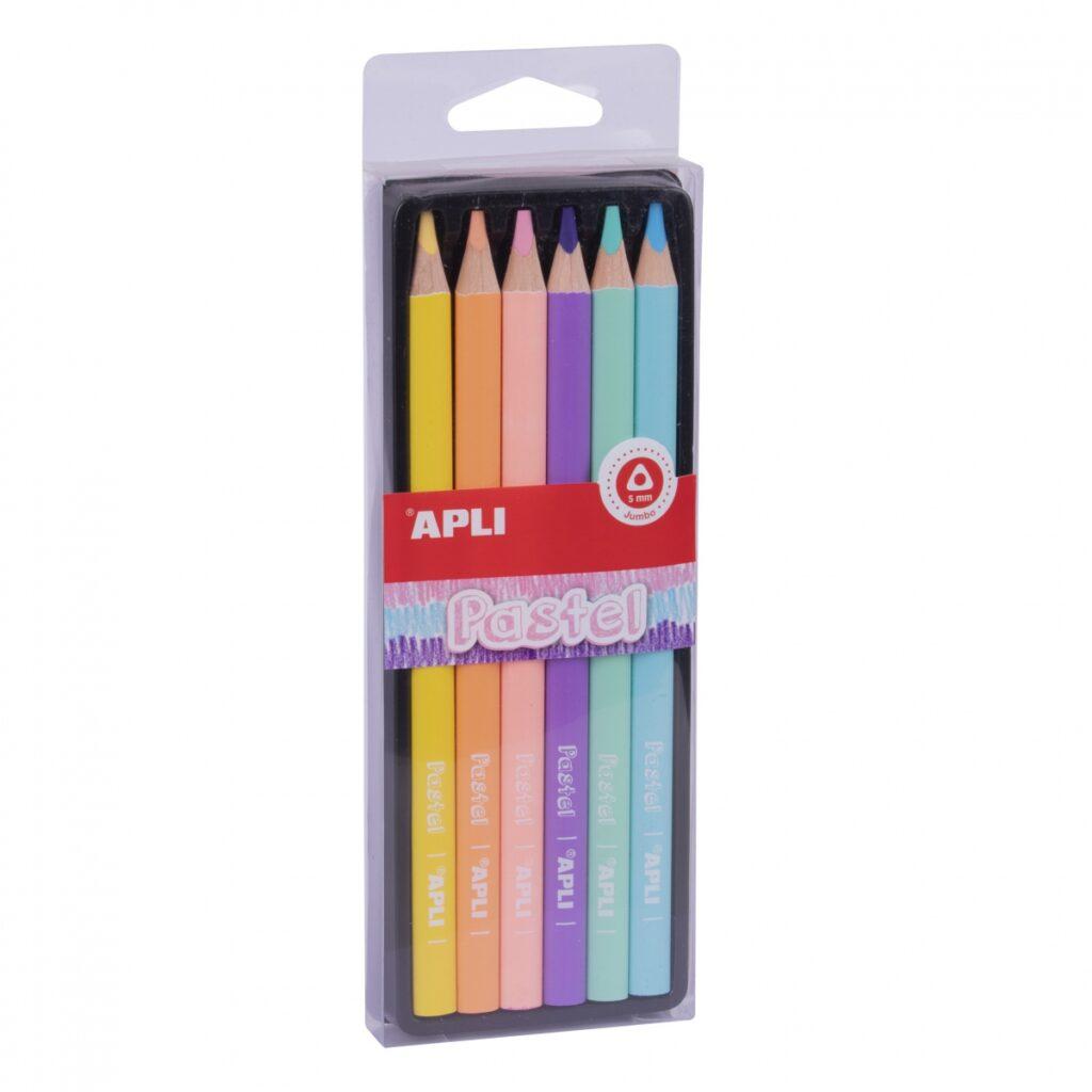 Kredki ołówkowe Jumbo Pastel   Apli Kids