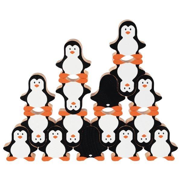 Drewniana gra układanka Pingwiny | Goki