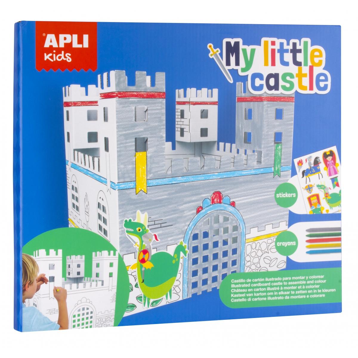 Kartonowy zamek do złożenia i pokolowania | Apli Kids