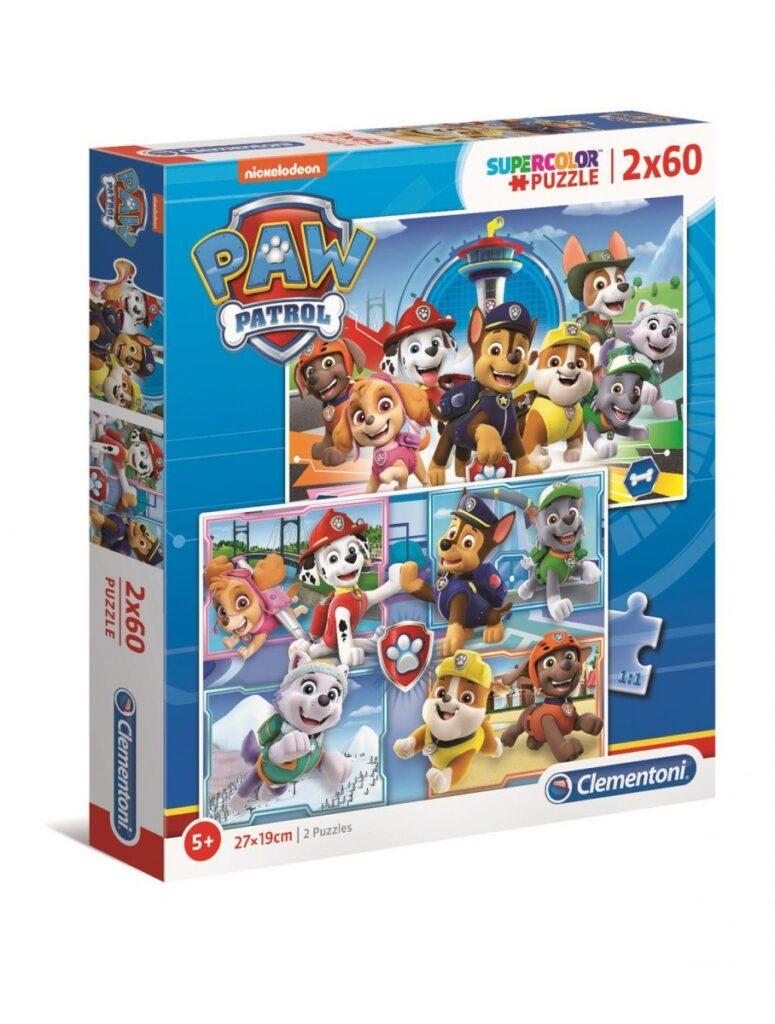 Puzzle 2x60el Psi Patrol Radosne Pieski | Clementoni