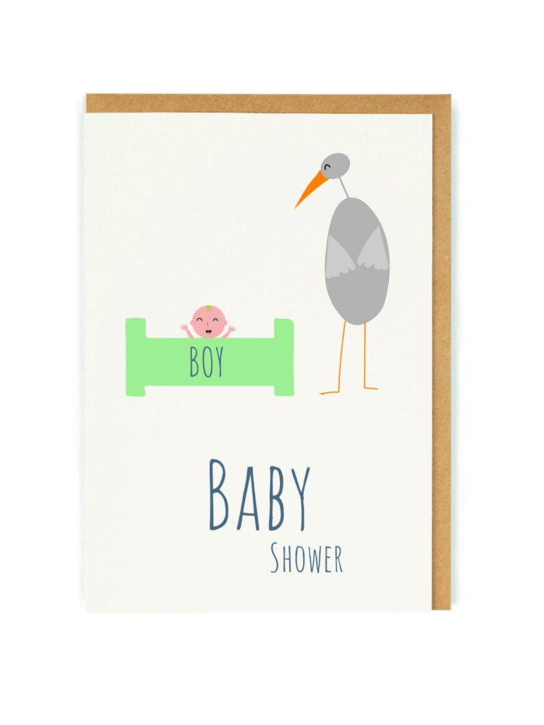 Kartka okolicznościowa BabyShower BOY