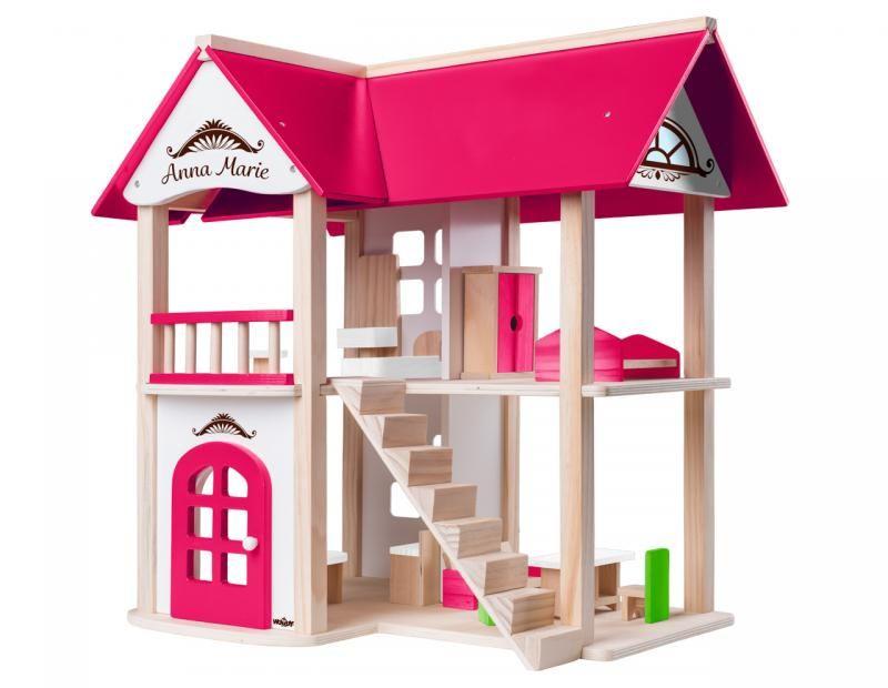 Drewniany domek dla lalek z akcesoriami Villa Anna Maria | Woody