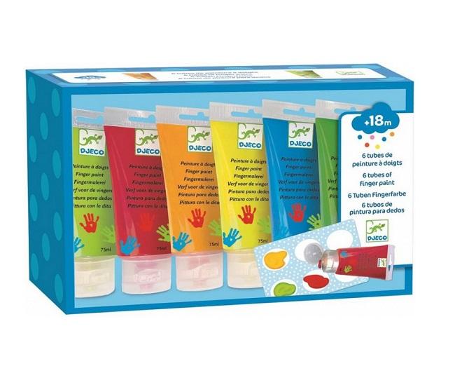 Farby do malowania palcami 6szt   Djeco