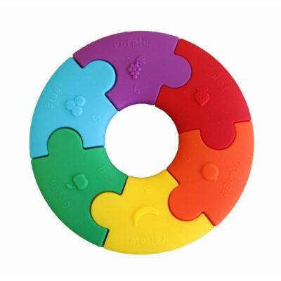 Pierwsze puzzle sensoryczne, tęczowe kółko | JellyStone