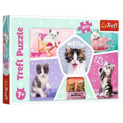 Puzzle 200el Kocie Figle | Trefl