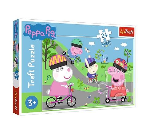 Puzzle MAXI Aktywny dzień Peppy 24el | Trefl