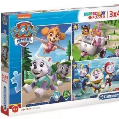 Puzzle 3x48 elementów Psi Patrol Pieski w akcji | Clementoni